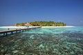 Beautiful tiny island. Indian ocean. Maldives.