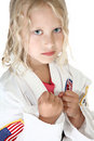 Beautiful TKD Girl Stock Image
