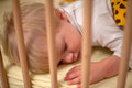 Beautiful toddler boy sleeping in bed Royalty Free Stock Photos