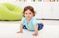 Beautiful toddler child at home Royalty Free Stock Photography