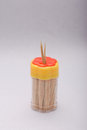 Beautiful toothpick box white background Stock Images