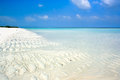 Beautiful topical white sand beach Stock Photography