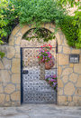 Beautiful traditional house  entrance with iron door, Nicosia, Cyprus Royalty Free Stock Photo