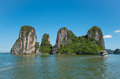 Beautiful travel view in the Halong Bay Vietnam landscape ocean Royalty Free Stock Photo