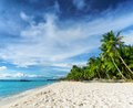 Beautiful tropical beach and blue sky Stock Photography