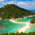 Beautiful tropical beach. Koh Phangan island Royalty Free Stock Photography