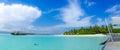 Beautiful tropical beach panorama view at Maldives Royalty Free Stock Photo
