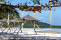 Beautiful tropical beach , Philippines. Royalty Free Stock Photo