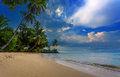 The beautiful tropical beach in thailand Stock Photography