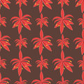 Beautiful tropical flower seamless pattern design summer plants colorful decoration nature design floral drawing leaf