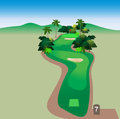 Beautiful tropical golf course Stock Photography