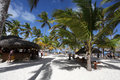 Beautiful tropical resort with beach bar in punta cana dominican republic Royalty Free Stock Images
