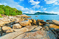 Beautiful tropical seascape rocky seacoast phuket island thailand Royalty Free Stock Images