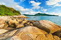 Beautiful tropical seascape rocky seacoast phuket island thailand Royalty Free Stock Photography