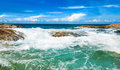 Beautiful tropical seascape rocky seacoast phuket island thailand Royalty Free Stock Photo