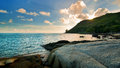 Beautiful tropical seascape rocky seacoast phuket island thailand Royalty Free Stock Photos