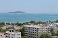 Beautiful tropical view sanya hainan island china Royalty Free Stock Photo