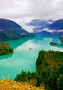 Beautiful turquoise colored Diablo lake Royalty Free Stock Photography
