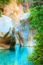 Beautiful turquoise lake Stock Photo