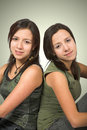 Beautiful twin sisters Royalty Free Stock Photography