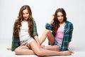 Beautiful Twins Young Women In...