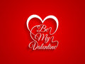 Beautiful typography of text be my valentine on re red color background vector illustration Royalty Free Stock Image