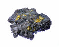 Beautiful unique crystal of sphalerite with contrast color Royalty Free Stock Photos