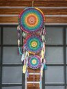 Beautiful and unique rainbow dream catcher as home decorations