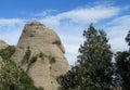 Beautiful unusual shaped mountain rock formations of montserrat spain near barcelona in in the neibourhood santa maria de Stock Image