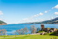 Beautiful Urquhart Castle in Scotland, Loch Ness Royalty Free Stock Photo