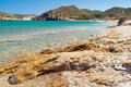 Beautiful Vai beach on Crete Stock Photos