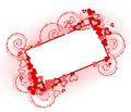 Beautiful valentine frame Royalty Free Stock Photos