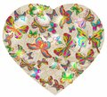 Beautiful Valentine's background with heart and butterfly Royalty Free Stock Image