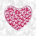 Beautiful valentines heart from roses Royalty Free Stock Image