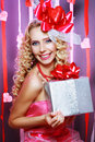 Beautiful Valentines woman Royalty Free Stock Photo