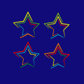 Beautiful vector colorful stylized stars Royalty Free Stock Image