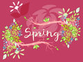 Beautiful vector lettering on spring season