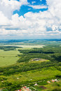 Beautiful view above the earth on landmark down Royalty Free Stock Photography