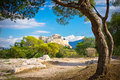 Beautiful view of ancient acropolis athens greece Royalty Free Stock Photography