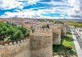 Beautiful view of the ancient walls of Avila, Castilla y Leon, Spain Royalty Free Stock Photo