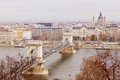 Beautiful view of the autumn morning Budapest a beautiful city with Chainbridge and plenty of facilities Royalty Free Stock Photo