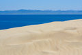 Beautiful view on beach and ocean, Spain, Tarifa Royalty Free Stock Photos