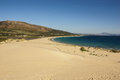 Beautiful view on beach and ocean, Spain, Tarifa Stock Image