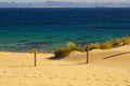 Beautiful view on beach and ocean, Spain, Tarifa Royalty Free Stock Image