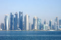 Beautiful view of Doha skyline, Qatar Stock Images