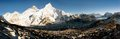 Beautiful view everest nuptse kala patthar Stock Photography