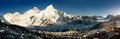 Beautiful view of everest and nuptse from kala patthar Stock Photography