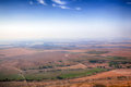 Beautiful view of fields from big height Royalty Free Stock Photo