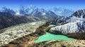 Beautiful view from Gokyo Ri, Everest region, Nepal Royalty Free Stock Photo