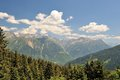 Beautiful view of the high alps switzerland Royalty Free Stock Photography